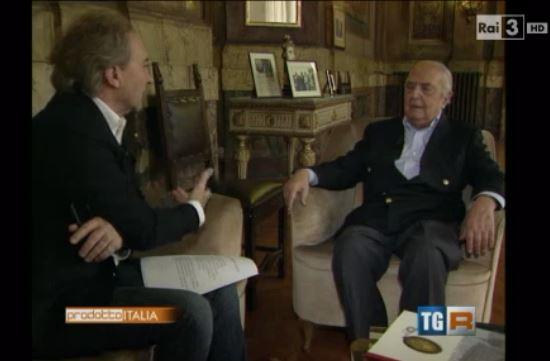 Immagine tratta dal servizio RAI.  Intervista a  Bruno Bottai, presidente Società Dante Alighieri